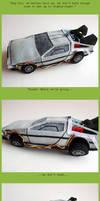 Plush DeLorean: UPGRADED by ldhenson