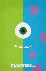 Monsters Inc. Minimalist Poster by miserym