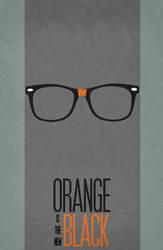 Orange is the new Black - Minimalist Poster 01 by miserym