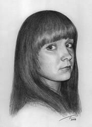 Portrait of a girl by katzik