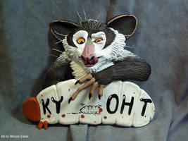 Aye-Aye Sculpted Badge by WickedSairah