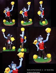 Spunky and The Piyo Duckies by WickedSairah