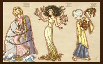 Mythology girls_2 by roby-boh