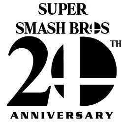 Smash Bros 20th Anniversary Logo by Blazikenpwnsyou