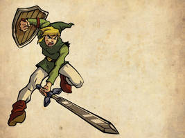 Adult Link - Wind Waker style by shaneandhisdog