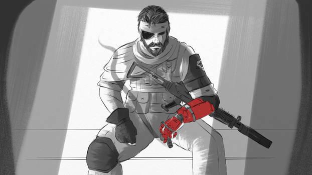 TheTweedler Sketchbook [3] Venom Snake by TheTweedler