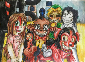 Creepypasta monsters! by SilvybOOm