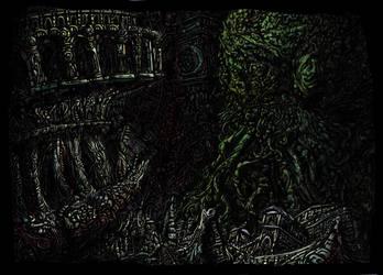 Dead Cthulhu waits Dreaming by DougDougmann