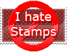 I Hate Stamps Stamp by popstck