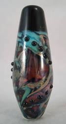 Galaxies Collide Glass Bead by SPIglassStudio