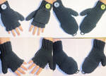 Blue fingerless gloves by coincollect408