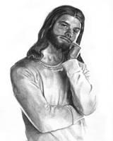 Jesus H. Christ: Noir by redghostman