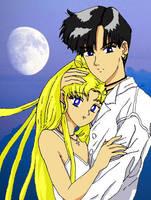 Sailor Moon - Usagi and Mamoru by Homework-Ate-Me