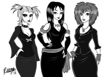 Inktober Day #27 - The Hex Girls by RatchetJak