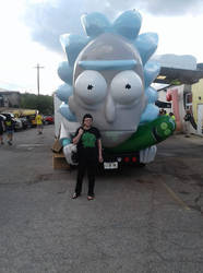 Me with the Rickmobile by Drivingblind666