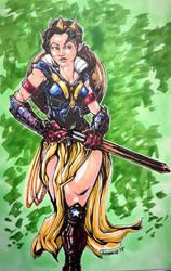 Wonder Woman/Snow White mash up  by CarlosAcosta76