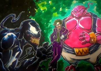 Venom vs. The Joker and Maijin Buu by CarlosAcosta76