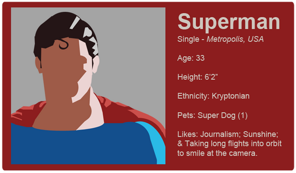 Dating Fictions - Superman by TheNYRD