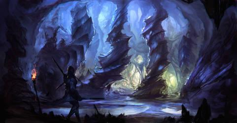 Concept Art: Cave by ESPj-o