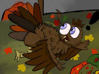 Sneak peek at thanksgiving drawing by lunawolf567
