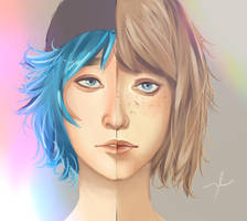 Max Caulfield and Chloe Price - Life is Strange by cosmogirll