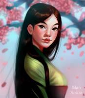 Mulan + Speedpaint by cosmogirll