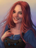 Viking Girl by cosmogirll