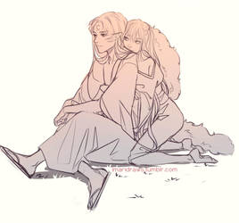 Grown up Rin x Sesshomaru by cosmogirll