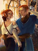 Iwyn x Branwen Dragon Age by cosmogirll