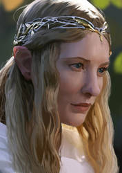 Galadriel, Lady of Lorien. by Paganflow