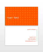 Personal Business Cards-Orange by TheRyanFord