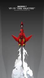Macross fanart mobile phone wallpaper : Yf19-fire by nicopower5000