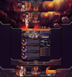 Lineage II Eola Website by strain-d
