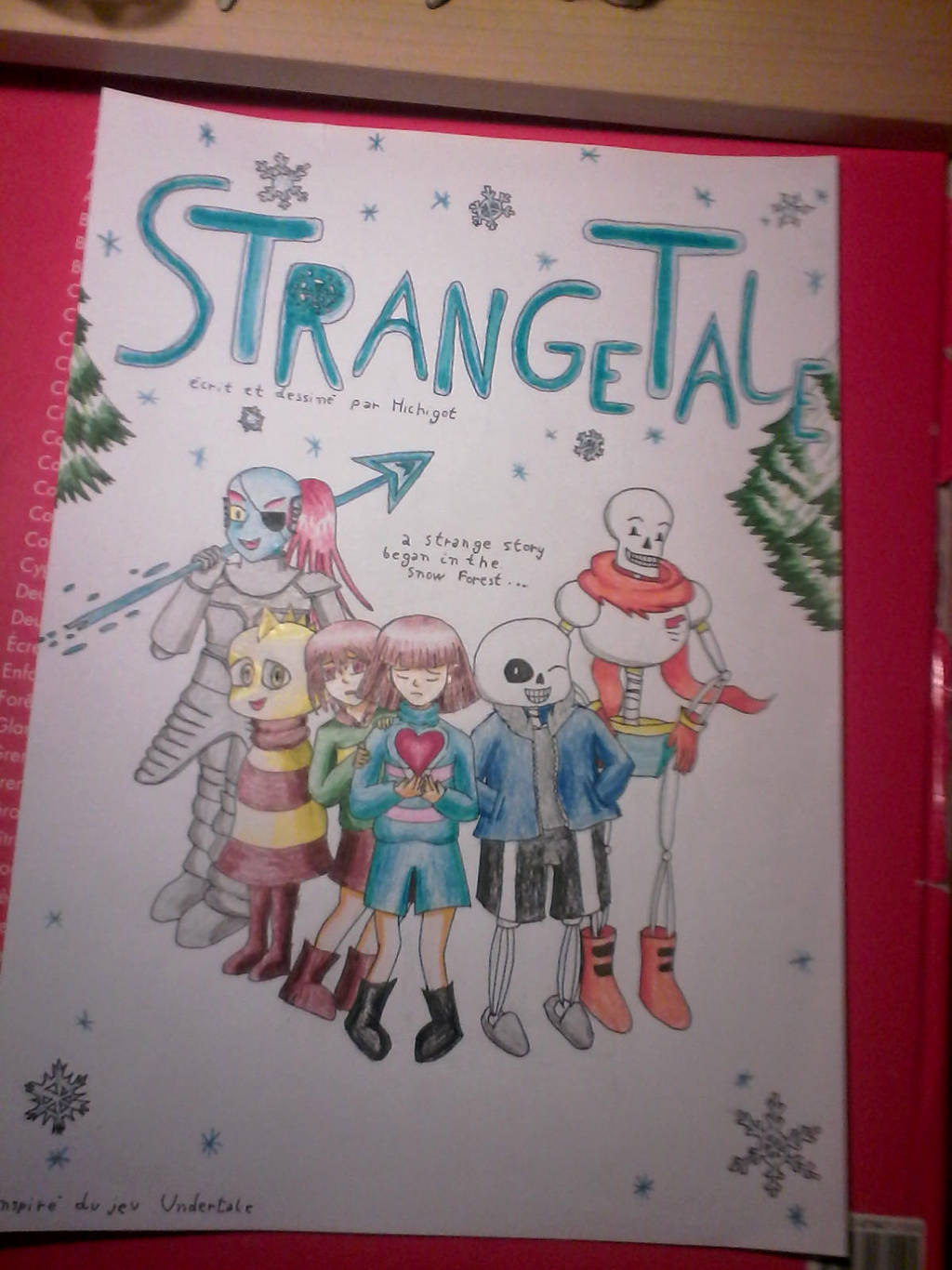 couverture strangetale by hichigot