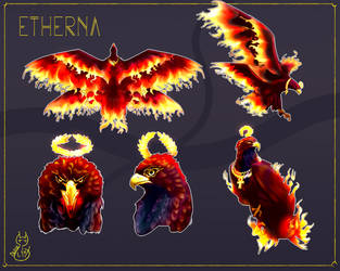 Etherna phoenix comission by DenseLynx
