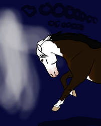 Go Away Ghost! - Faime Drawlloween 3 by Happy-Horse-Stable