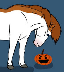 Who's the Pumpkin King - Faime Drawlloween 6 by Happy-Horse-Stable