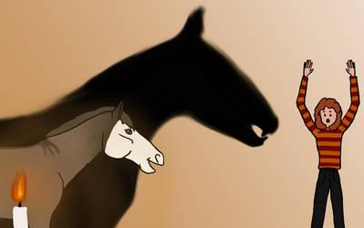 Shady Shadows - Faime Drawlloween 7 by Happy-Horse-Stable