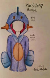 Marshtomp Hoodie Sketch by TimelessForever
