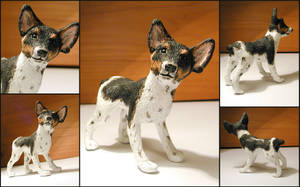 Rat Terrier Sculpture by LeiliaClay