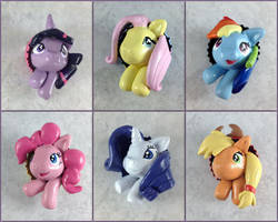 My Little Pony Pop-Out Buttons by LeiliaClay