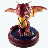Myn the Dragon Sculpture by LeiliaClay