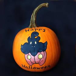 Pumpkaboo Pumpkin by LeiliaClay