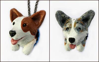 Custom Corgi Pop-Out Sculptures by LeiliaClay