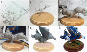 Buttergi Sculpture Progression by LeiliaClay