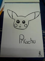 Pikachu outlined by Colorful-Kaiya