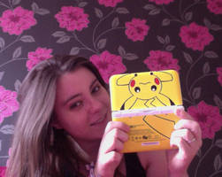 My Pikachu 3DS! and me ^-^ by Colorful-Kaiya
