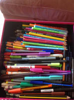 Not even half of my pens and pencils lol by Colorful-Kaiya