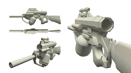 Pulse rifle - WIP by Stoupa