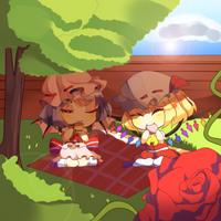 [Fan-art] Resting in the shadows by AngelAik0